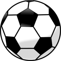 Proper soccer ball to play football with - black and white