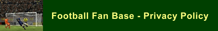 Privacy Policy for the Football Fan Base website - green soccer banner